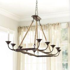 Laurenza Rectangle Chandelier - Ballard Designs -- Dining Room chandelier idea