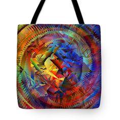 Colorful Crash 10 Tote Bag by Chris Butler.  #totebag #bag #abstract #colorful #design #art #Lifestyle