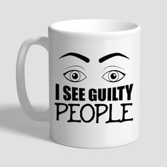 I See Guilty People Lawyer Coffee Mug Gift Gifts For Lawyers Funny