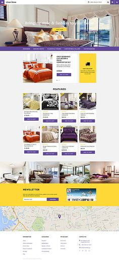 Template 58189 - Luxury Bed  Responsive OpenCart Template
