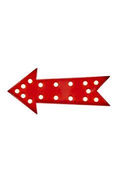 Primark - Red Metal Arrow Light