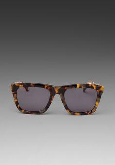 ff4ade1eeff KAREN WALKER Deep Freeze in Crazy Tortoise Karen Walker Sunglasses