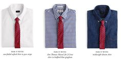 How to Match Your Shirt and Tie: A Cheat Sheet