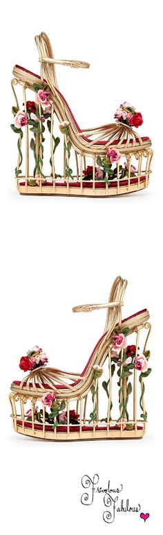 Dolce & Gabbana caged platforms | House of Beccaria~