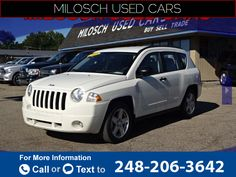2008 *Jeep*  *Compass* *Sport*  95k miles $7,495 95864 miles 248-206-3642 Transmission: Automatic  #Jeep #Compass #used #cars #MiloschPreOwnedSuperstore #LakeOrion #MI #tapcars
