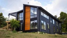 It& the journey& end for our own Grand Designs project. Grand Designs New Zealand, Newtown House, Building Design, Building A House, Terrace House Exterior, Passive Design, New Zealand Houses, Grey Exterior, Metal Homes