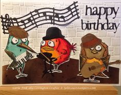 The Birdie Blues Band by Covington Crafter - Cards and Paper Crafts at Splitcoaststampers