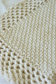 Tunisian Crochet Cottage Throw for Baby