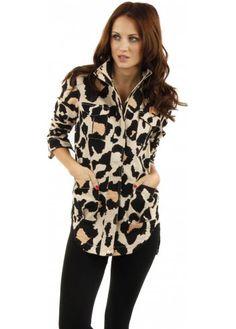 Finders Keepers Heartbreak Large Animal Print Denim Shirt Jacket.. similar to neiman marcus fall 2014 print