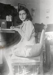 """Anne Frank-- """"Despite everything, I believe that people are really good at heart."""""""