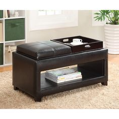 Found it at Wayfair Leslie Double Tray Storage Ottoman For the