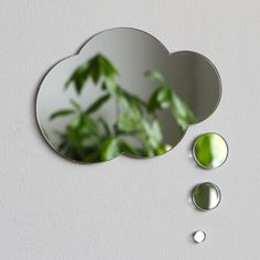 Thought bubble mirror! Cute!  Nubes, $85, now featured on Fab.