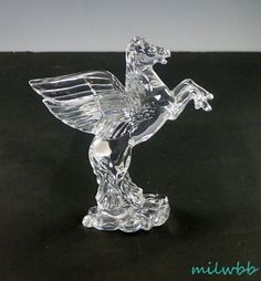 1999 Waterford Crystal PEGASUS Signed Sean O'Donnell #Waterford