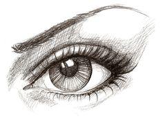 2D , een tekening van een oog