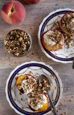 Grilled Peaches With Cinnamon Mascarpone.