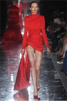 "Alexandre Vauthier Fall Winter 2011 – 2012 Haute Couture Collection ""A Lady in Red"" Red Fashion, Fashion Week, High Fashion, Fashion Show, Fashion Outfits, Style Haute Couture, Couture Fashion, Runway Fashion, Collection Couture"
