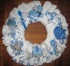 Wild About You Diaper Wreath