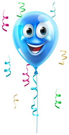 Buy Blue Cartoon Balloon Character by Krisdog on GraphicRiver. A happy cute blue party balloon cartoon character Birthday Clipart, Art Birthday, Vintage Birthday, Up Balloons, Red Balloon, Birthday Balloons, Birthday Greetings, Birthday Wishes, Birthday Cards