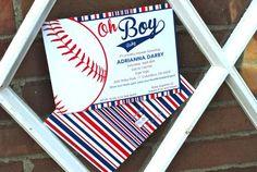 cutest baseball baby shower invitation!