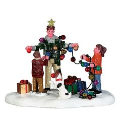 Lemax Christmas Tree Dad. SKU# 73308. Released in 2017 as a Table Accent for the Vail Village Collection.