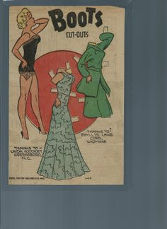 1-14-51 Boots paper doll / eBay