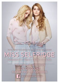 Come and check the new & improved Miss Selfridge at Senayan City!