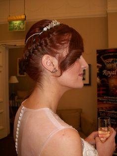 Amazing hair!  Mega, Woodside, February 2014    www.bridalgallerycoventry.co.uk