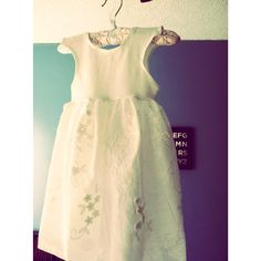 Sweet Floral Ivory Dress on Etsy, $25.00