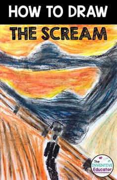Learn how to create your own oil pastel drawing of Edvard Munch's famous painting, The Scream!
