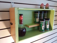 Excited to share the latest addition to my #etsy shop: Gift! 1950's Inspired Vintage Wood Drawer Spice Rack. Hang on Your Wall or Stand on Table Top. Kitchen, Bake Ware, Cookware. Free Shipping! http://etsy.me/2DuFTGG #housewares #50's #rack #wall #counter #spice