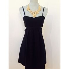 Black Cutout Sparkle & Fade Dress Stretch Sparkle & Fade dress cut in a short baby doll silhouette. Bandeau style top with cutout accents at sides. Short, swingy skirt. Adjustable straps. Zipper closure. UO exclusive. Super cute and excellent condition!! Sparkle & Fade Dresses