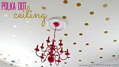 gold polka dot ceiling