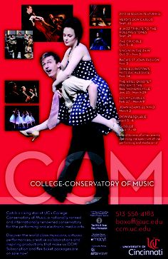 """UC's College-Conservatory of Music presents a """"must-see"""" series of performing arts events in 2013-14. Subscription and flex ticket packages are on sale now! Visit http://ccm.uc.edu or call 513-556-4183 to learn more."""