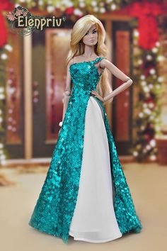 This item is unavailable - - Turquoise sequined dress white bag Choose Size Fashion Sewing Barbie Clothes, Barbie Clothes Patterns, Dress Patterns, Doll Clothes, Doily Patterns, Barbie Wedding Dress, Barbie Gowns, Barbie Dress, Barbie Style
