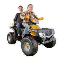 Peg Perego XP850 Polaris Sportsman, Gold by Peg Perego. $506.00. 2-Speeds plus reverse: 31/2 to 7 mph on grass, dirt or hard surfaces (7 mph lockout for beginners). 24-Volt High Performance rechargeable battery and recharger included. Smart Pedal variable speed accelerator for realism and longer riding time. Free 2nd year extension to regular warranty with consumer participation. Super traction Red Line wheels with shock-absorbing rear suspension. From the Manufacture...