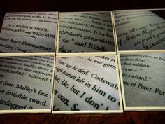 Harry Potter Ceramic Tile Coaster Set of 6! This is a great DIY for the fellow HP lover :)