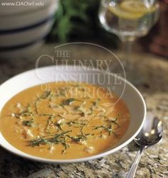 cream of tomato soup with rice and basil    from the culinary institute of america. one of my most used recipes of all time! so easy, so good.