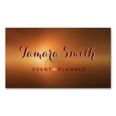 Red And White Event Planner Business Card  Business Cards And