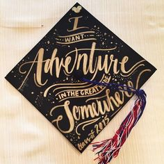 Gorgeous Disney graduation cap with a quote from Beauty and the Beast.