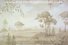 Cutting Edge Stencils - Ultimate Mural Stencil kit