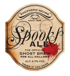 SHEPHERD NEAME'S SPOOKS ALE - is a devilishly great beer. It is characterised by a distinct, biscuity palate, derived from blending three traditional roasted barley malts in the mash. These complex, malty flavours are wonderfully balanced by a citrusy, hoppy bitterness and an aroma from an especially fruity hop which is added at four different stages during brewing.