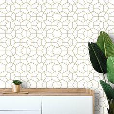 Peel and Stick Wallpaper Minimalist Geometric Self Adhesive Removable Wall Paper Modern Hexagon Wall