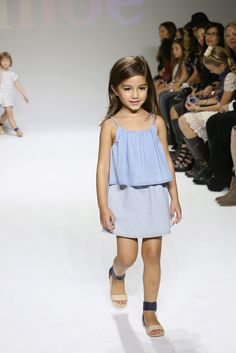 petiteMODEL in look by @chloefashion kids at 7th edition of #petitePARADE, Kids Fashion Week in NYC.