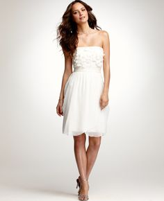$325 perfect summer wedding dress. so simple.