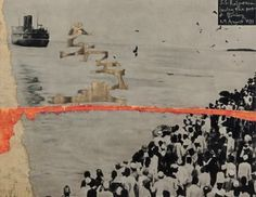 Atul Dodiya's S. S. Rajputana leaving the Port of Bombay - 29th August 1931. COURTESY CHEMOULD PRESCOTT ROAD