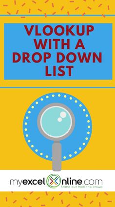 Wanted to combine vlookup with a drop down list? I'm going to show you how! Let me show you how through my step by step tutorial from #MyExcelOnline blog | Microsoft Excel Tips   Tutorials | #MSExcel #Excel #ExcelTips #MicrosoftExcel #ExcelforBeginners #WorkSheets #Free