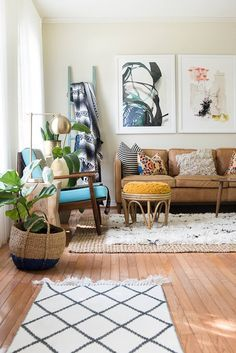 Step Inside The Creative, Handmade Home Of Aniko Levai on Glitter Guide with Rugs USA's Tuscan Moroccan Shag!