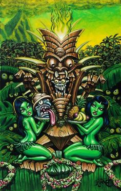 BigToe's Zombie Tiki limited edition archival art on Etsy, $50.00