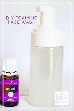Forget expensive department store facial cleansers. Make a DIY face wash for just $2 with essential oils. Great for all skin types and so easy to make.