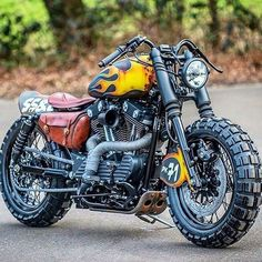Harley DavidsonYou can find Bobber motorcycle and more on our website. Retro Bikes, Scrambler Motorcycle, Moto Bike, Sportster Scrambler, Motorcycle Helmets, Softail Bobber, Chopper Motorcycle, Cruiser Motorcycle, Motorcycle Design